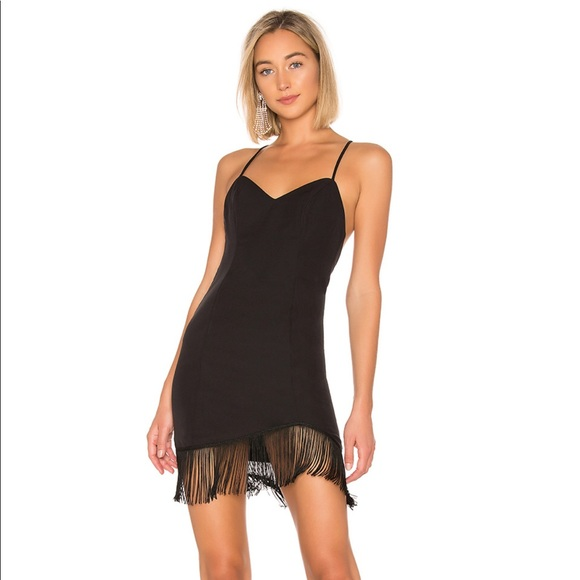 0f6e6b02675 NBD Dresses | Black Fringe Mini Dress Size Xxs | Poshmark